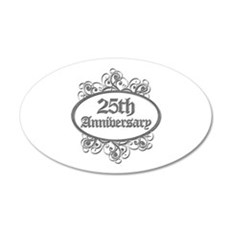 25th Wedding Aniversary (Engraved) Wall Decal
