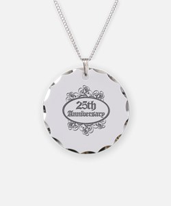 25th Wedding Aniversary (Engraved) Necklace