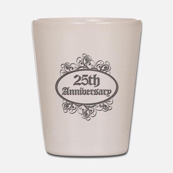 25th Wedding Aniversary (Engraved) Shot Glass