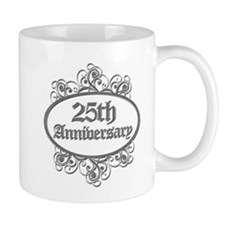 25th Wedding Aniversary (Engraved) Mug