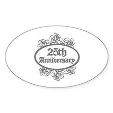 25th Wedding Aniversary (Engraved) Decal