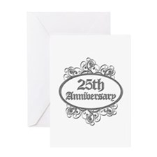 25th Wedding Aniversary (Engraved) Greeting Card