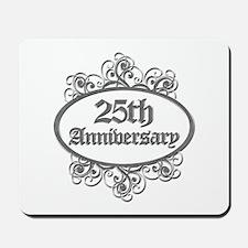 25th Wedding Aniversary (Engraved) Mousepad