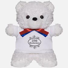 25th Wedding Aniversary (Engraved) Teddy Bear