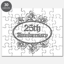 25th Wedding Aniversary (Engraved) Puzzle