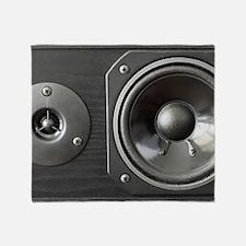 Speaker look a like art Throw Blanket