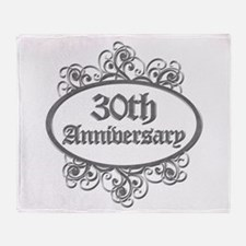 30th Wedding Aniversary (Engraved) Throw Blanket