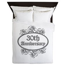 30th Wedding Aniversary (Engraved) Queen Duvet