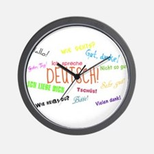 White Background.jpg Wall Clock