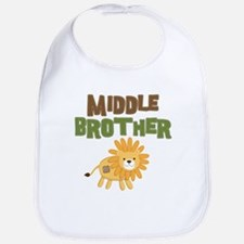 Middle Bro Lion Bib