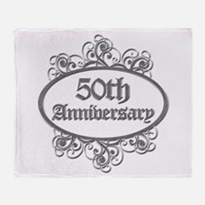 50th Wedding Aniversary (Engraved) Throw Blanket