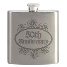 50th Wedding Aniversary (Engraved) Flask