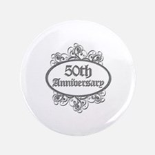 """50th Wedding Aniversary (Engraved) 3.5"""" Button"""