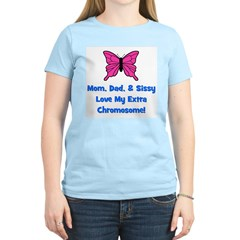 Mom, Dad, & Sissy - Extra Chr Women's Pink T-Shirt