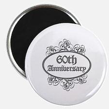 60th Wedding Aniversary (Engraved) Magnet