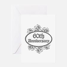 60th Wedding Aniversary (Engraved) Greeting Card