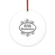 60th Wedding Aniversary (Engraved) Ornament (Round