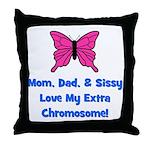 Mom, Dad, & Sissy - Extra Chr Throw Pillow