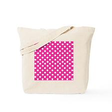 Hot pink and white polka dots Tote Bag