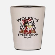 Wolfie's Speed Shop Shot Glass