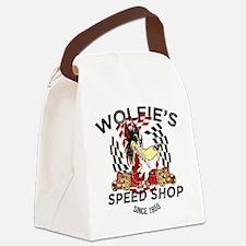 Wolfie's Speed Shop Canvas Lunch Bag