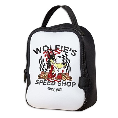 Wolfie's Speed Shop Neoprene Lunch Bag