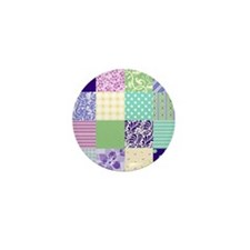 Pretty quilt-like squares Mini Button