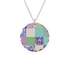Pretty quilt-like squares Necklace