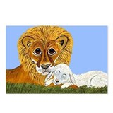 Lion and lamb cards Postcards