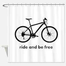 Custom Bicycle Shower Curtain