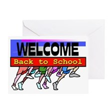 Back to School Running Feet Greeting Card