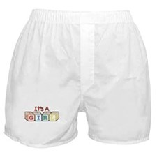 It's A Girl Boxer Shorts