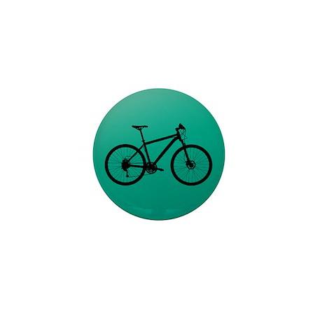 Bike on Emerald Mini Button