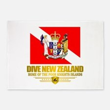 Dive New Zealand 5'x7'Area Rug