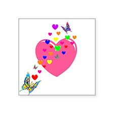 Hearts and Butterflies Sticker
