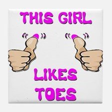 This Girl Likes Toes Tile Coaster