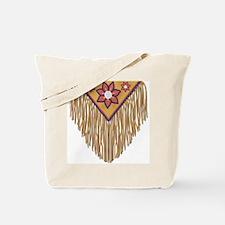 Beaded Leather Yoke Tote Bag