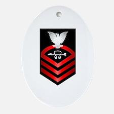Navy Chief Sonar Technician Ornament (Oval)