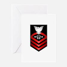 Navy Chief Sonar Technician Greeting Cards (Pk of