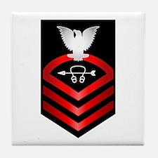 Navy Chief Sonar Technician Tile Coaster