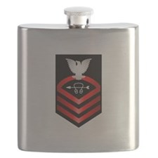 Navy Chief Sonar Technician Flask