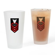 Navy Chief Sonar Technician Drinking Glass