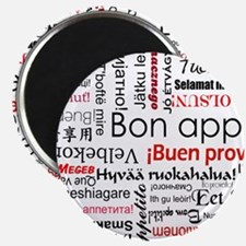 Red Bon appetit in different languages Magnet