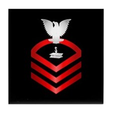 Navy Chief Steelworker Tile Coaster