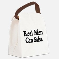 REAL MEN CAN SALSA Canvas Lunch Bag