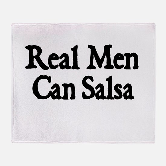 REAL MEN CAN SALSA Throw Blanket