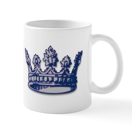 Medieval Blue Crown Mug
