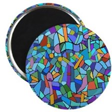 Blue abstract mosaic Magnet