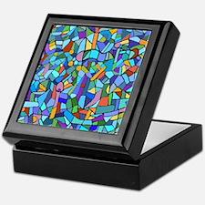 Blue abstract mosaic Keepsake Box
