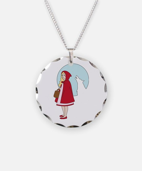 Red and The Wolf Necklace